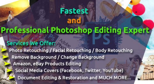 BE Your Fastest And Professional Photoshop Editing Expert