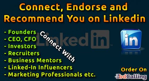 Connect, Endorse And Recommend You On Linkedin